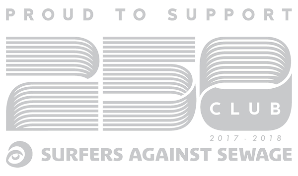 Proud to support Surfers against sewage and be part of the 250 club 2017-2018
