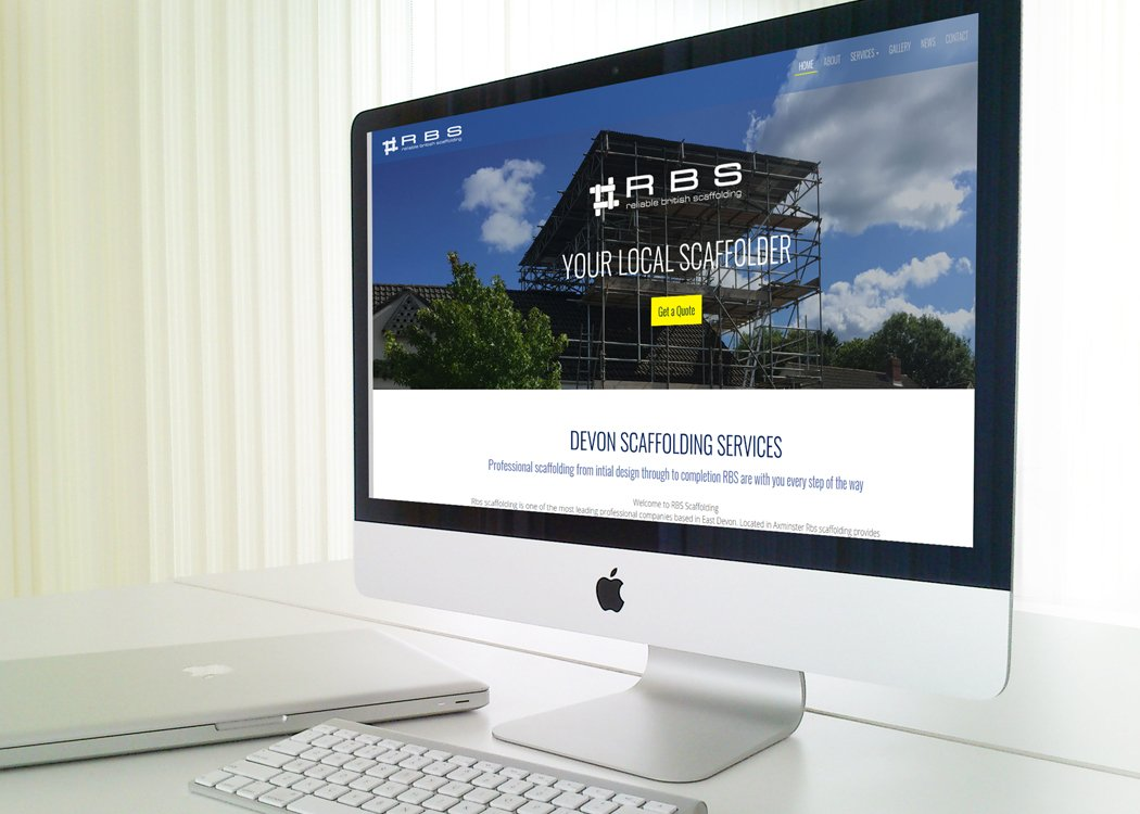RBS Scaffolding Website Design
