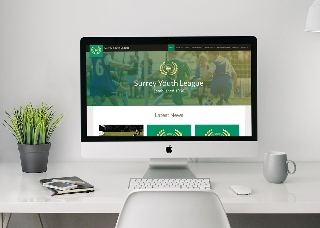 The Surrey youth league web site design