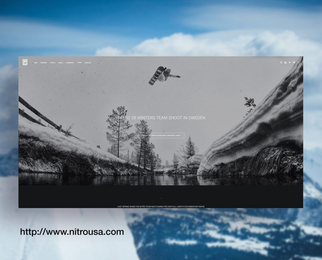 Nitro Snowboards Website