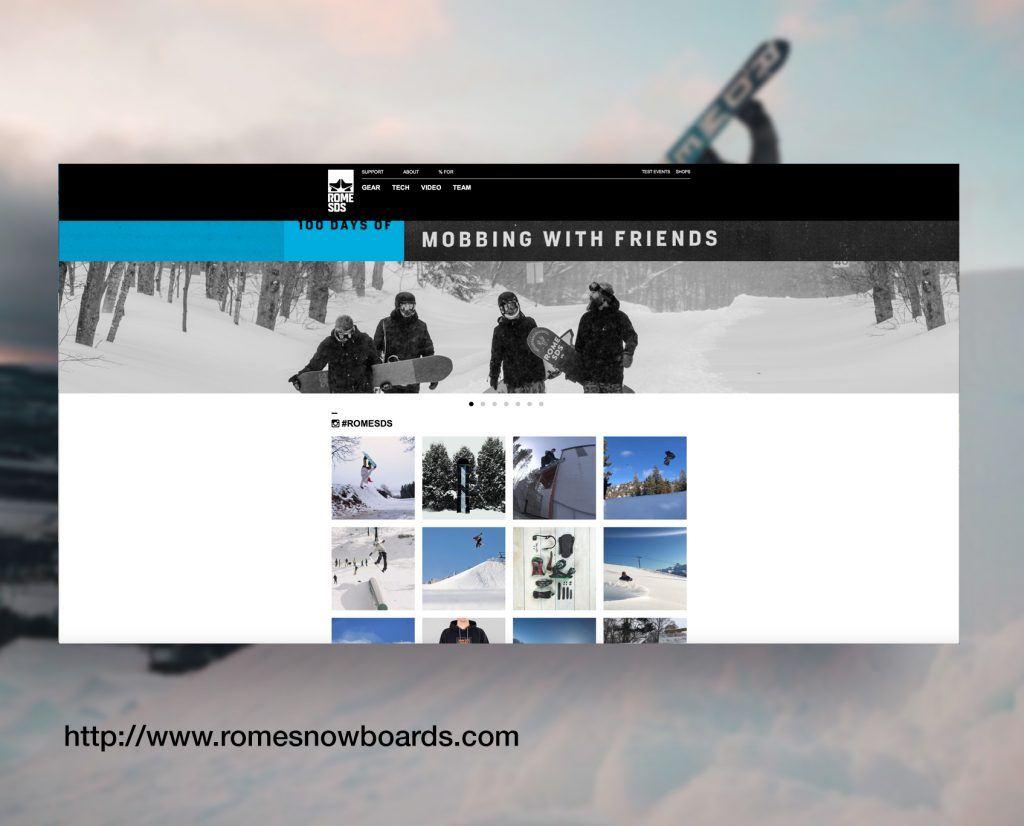 Rome Snowboard Brand Site