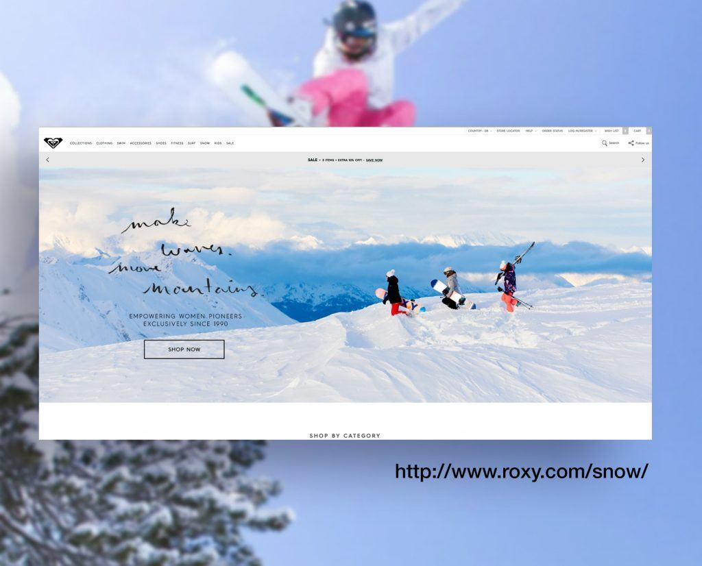Roxy Snowboard Website
