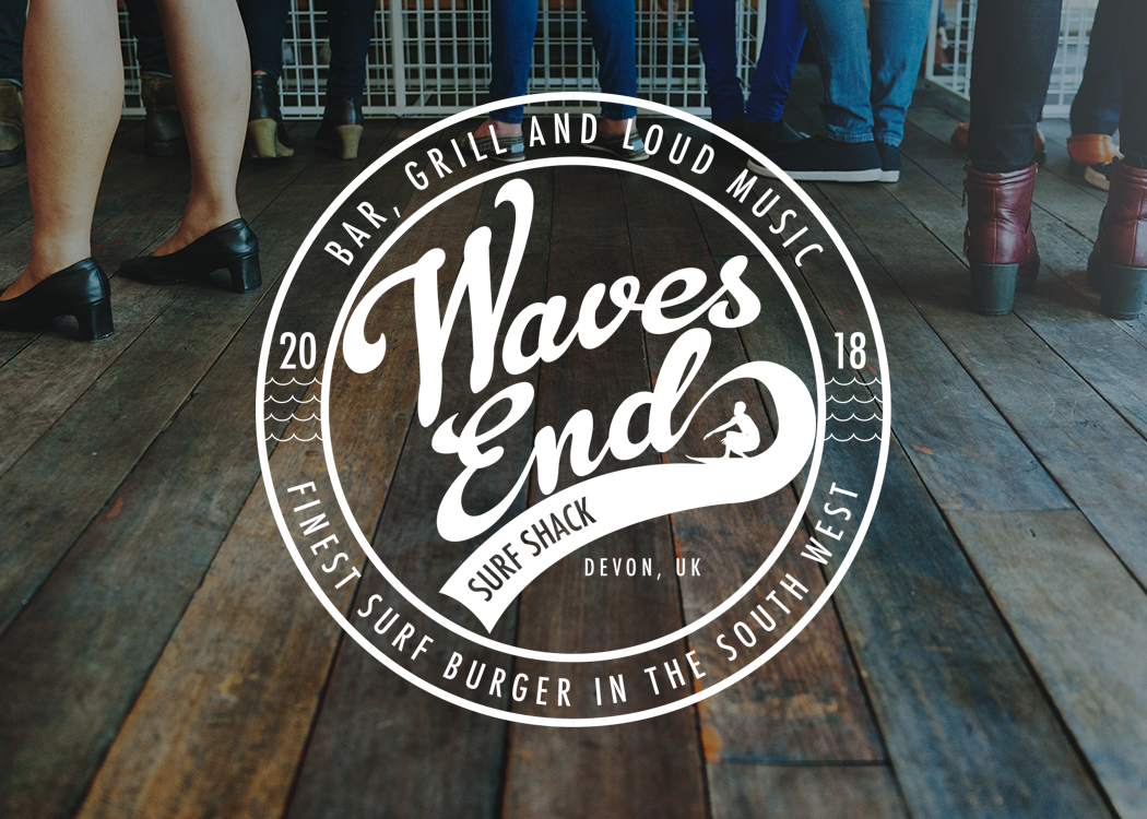 Waves End Surf Logo Branding